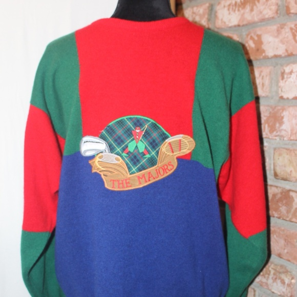 1980s Turquoise Pringle Golfing Sweater // Mens Medium PQPLNWXa